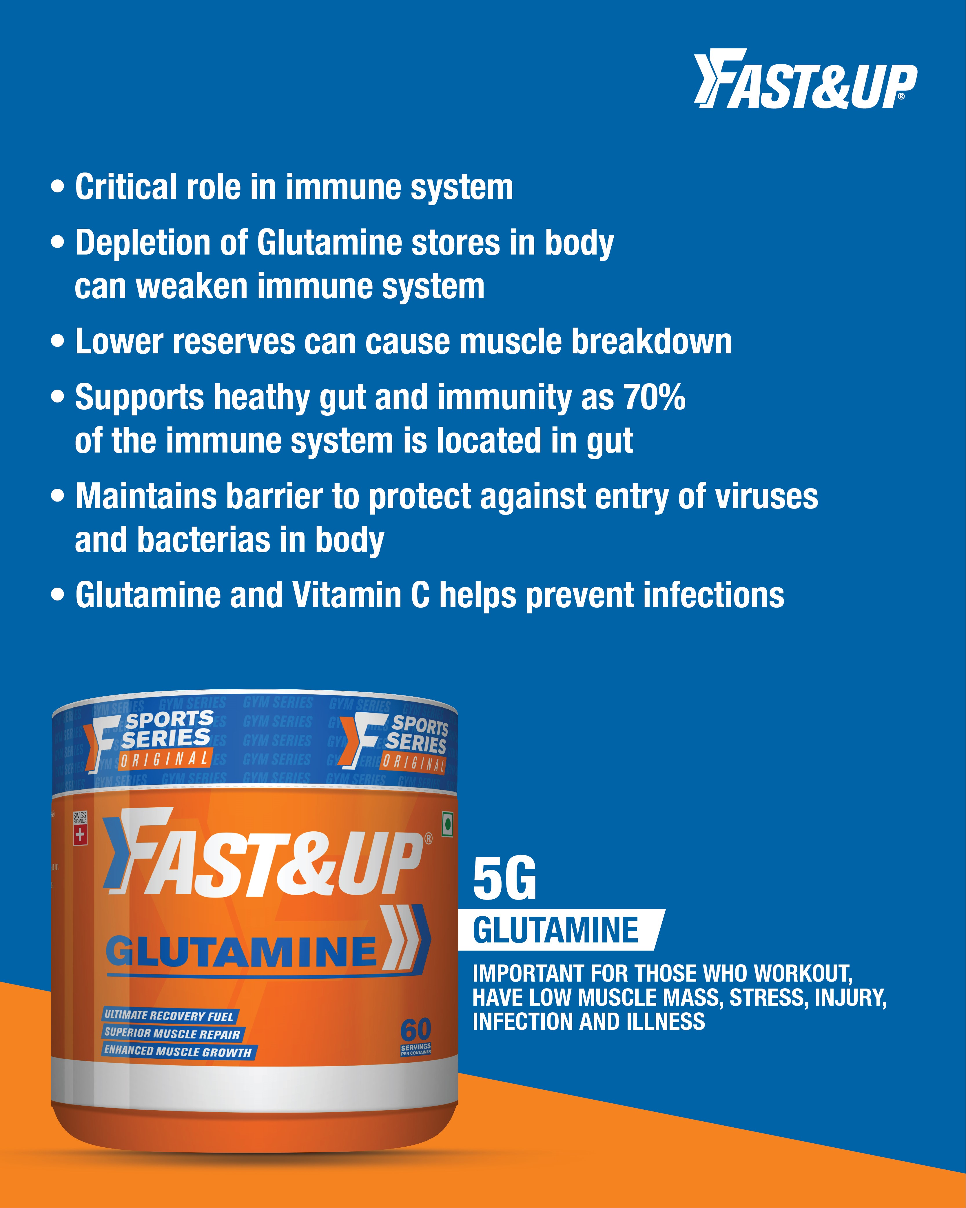 How does Glutamine helps to build immunity