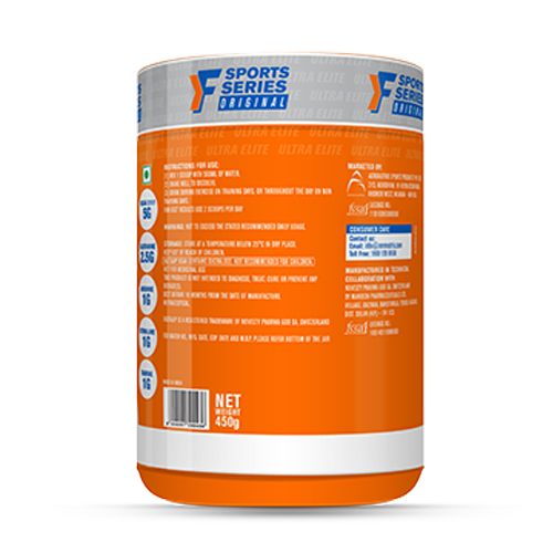 Fast&Up BCAA - Jar of 30 servings - Green Apple Flavour