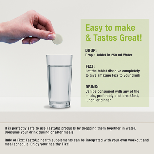 Fast&Up Fortify - Combo of 2 Tubes - Lime & Lemon Flavour