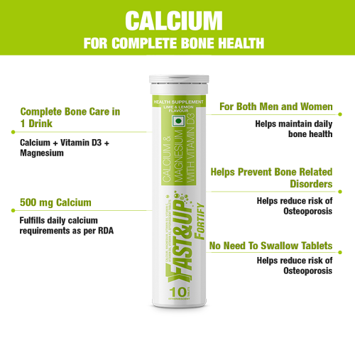 Fast&Up Fortify - Combo of 6 Tubes - Lime & Lemon Flavour