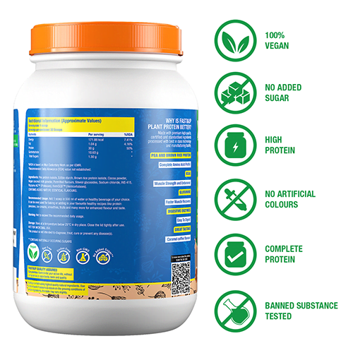 Fast&Up Plant Protein - Caramel Coffee - 30 Servings