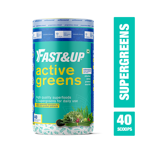 Fast&Up Terra - Active Greens - Supergreens & Superfoods Powder