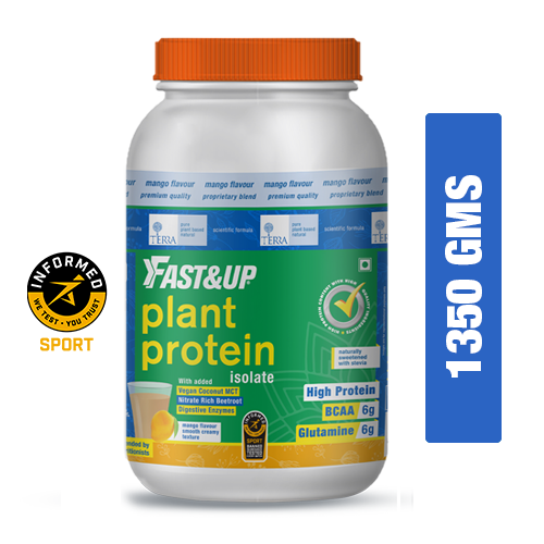 Fast&Up Plant Protein - 30 Servings - Mango Flavour