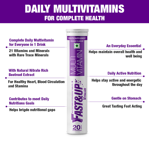 Fast&Up Vitalize - Combo of 2 Tubes - Orange Flavour