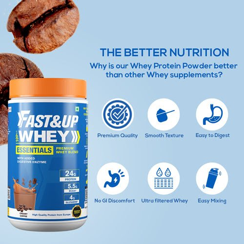 Fast&up Whey Essentials - Creamy Coffee - 15 Servings
