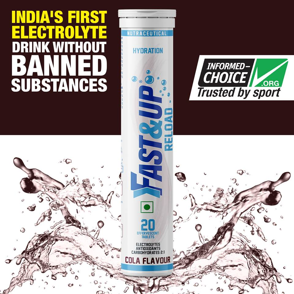 Fast&Up Reload: India's First Electrolyte drink without banned substances