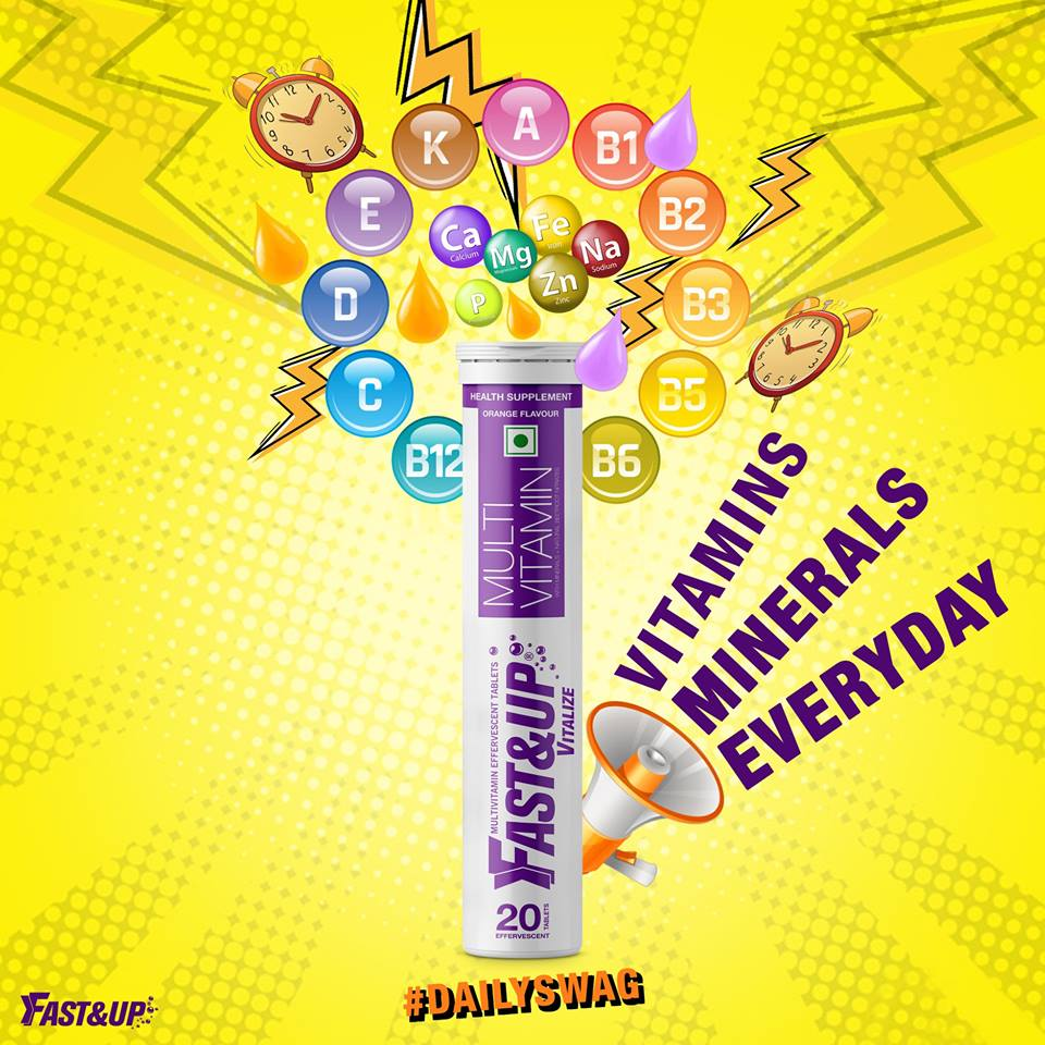 Fast&Up Vitalize Tube with hashtag