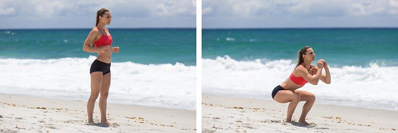 Fast&Up Beach Workout Sand Squat Jumps