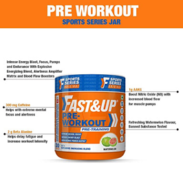 Fast&up Pre-Workout Supplement