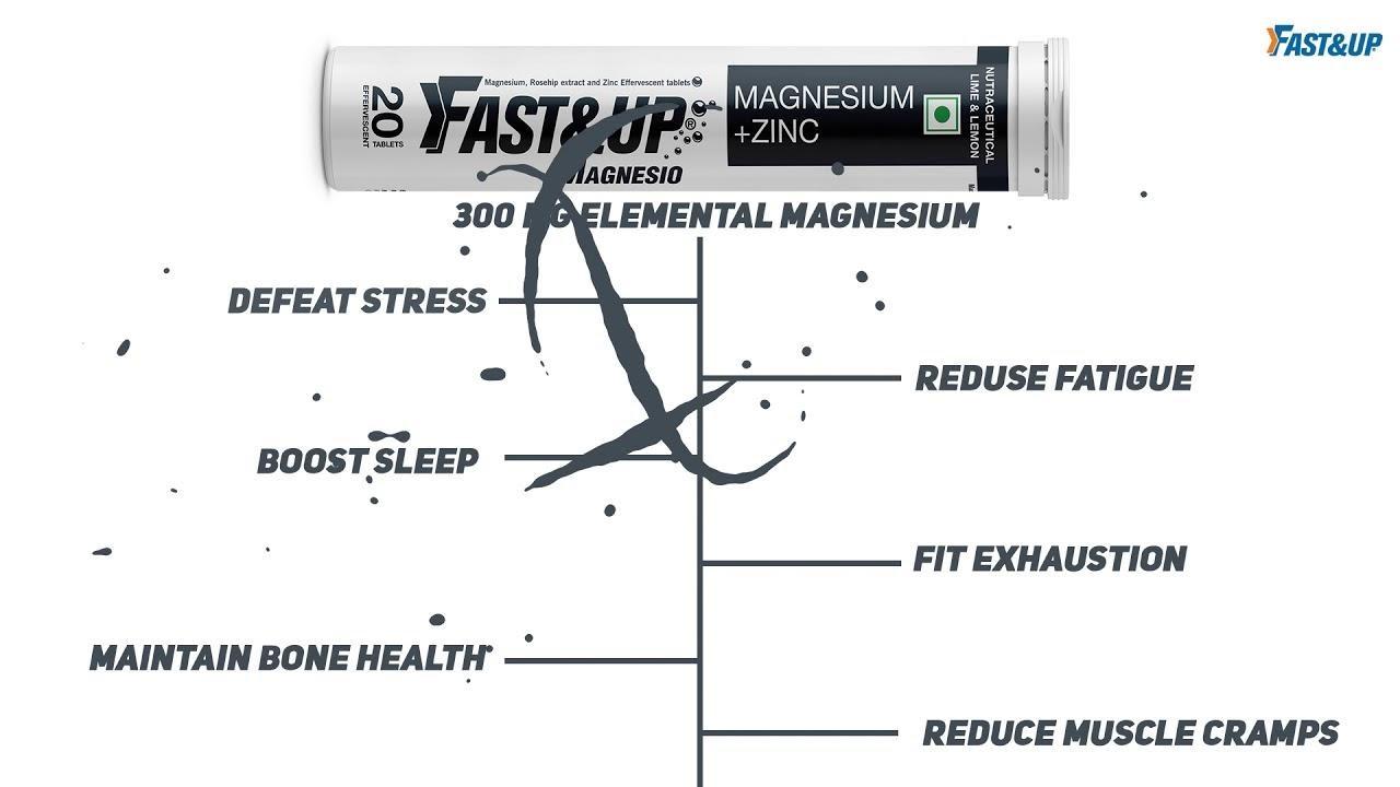 Fast&up Magnesium Plus Zinc Supplements