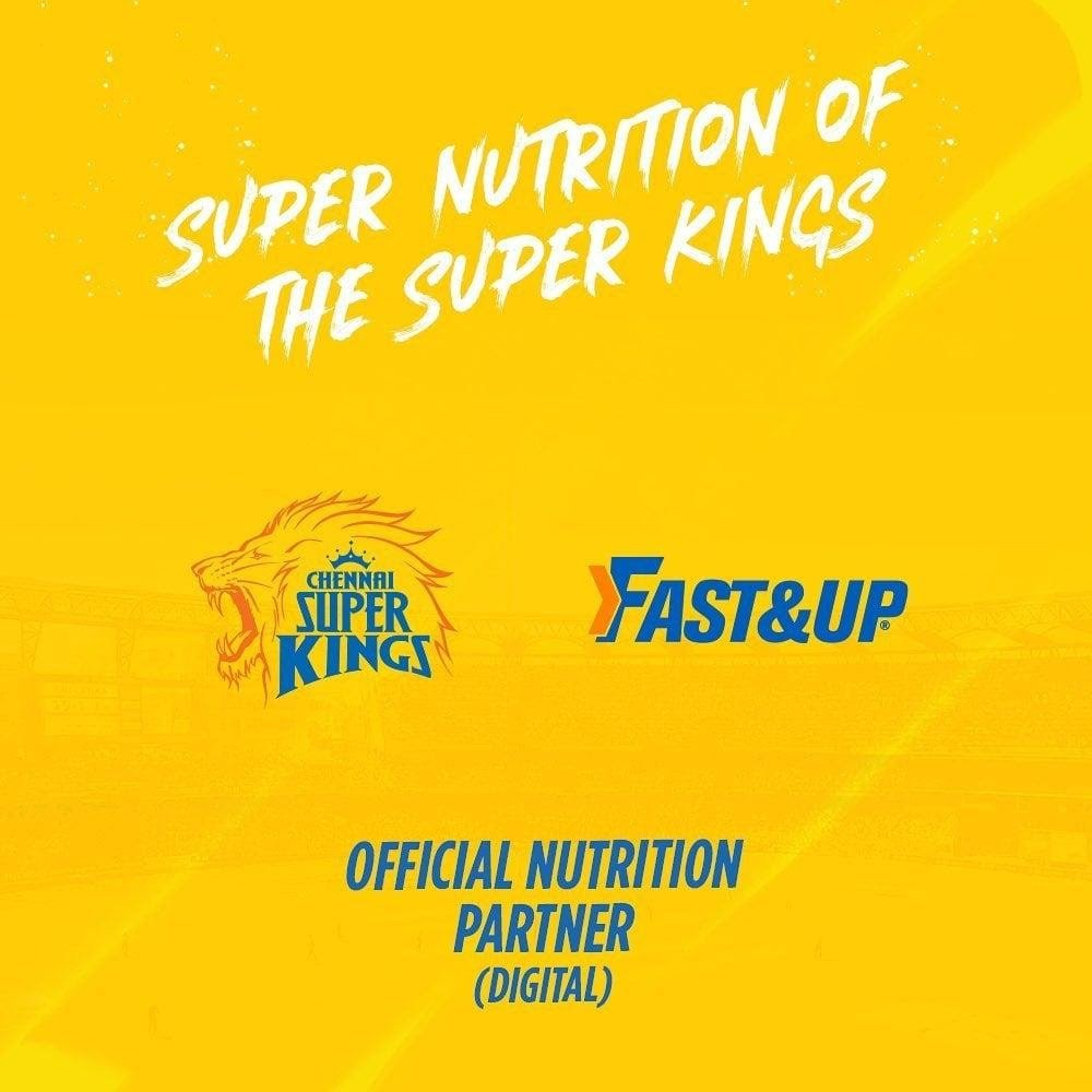 Fast&up The Official Nutriton Partner for CSK in IPL 2020