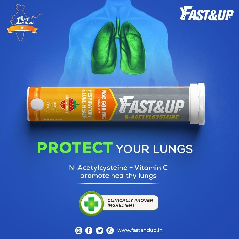 Fast&Up N- Acetyl Cysteine to Protect Lungs
