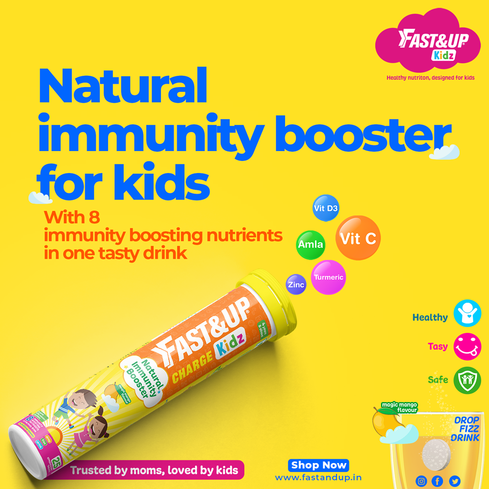 Fast&Up Vitamin C Natural Immunity Booster for Kids
