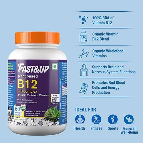 Plant Based B12 Supplements - Fast&Up