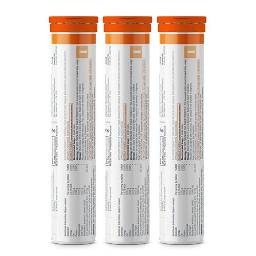 Fast&Up Charge - Combo of 3 Tubes - Orange Flavour